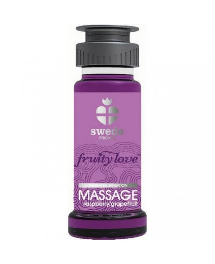Huile de Massage Framboise Pamplemousse - 50ml - Swede