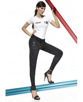 Legging Noir Et Zip - Bas Bleu