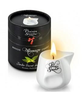 Bougie de Massage Ylang & Patchouli 80ml - Plaisirs Secrets