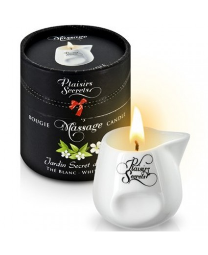 Bougie de Massage Thé Blanc 80ml - Plaisirs Secrets