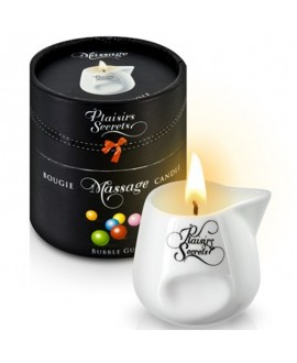 Bougie de Massage Bubble Gum 80ml - Plaisirs Secrets