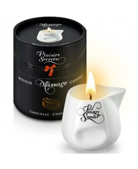 Bougie de Massage Chocolat 80ml - Plaisirs Secrets
