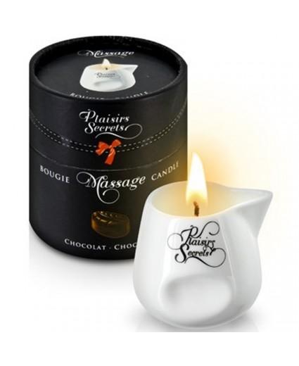 Bougie de Massage Chocolat 80ml - Plaisirs Secrets