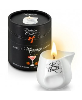 Bougie de Massage Daikiri & Fraise 80ml - Plaisirs Secrets