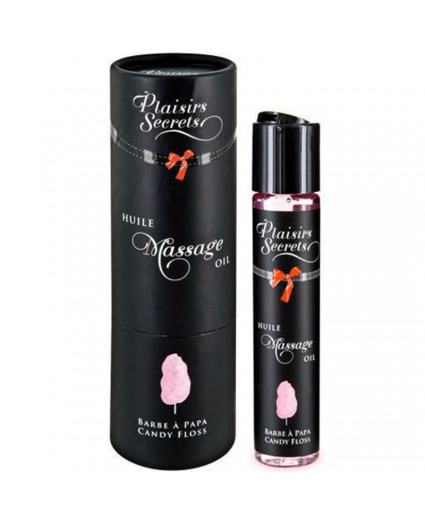 Huile de Massage Barbe à Papa 59 ml - Plaisirs Secrets