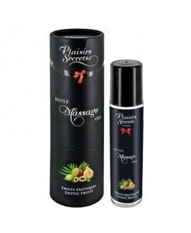 Huile de Massage Fruits Exotiques 59 ml - Plaisirs Secrets
