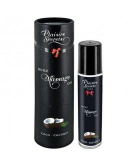 Huile de Massage Noix de Coco 59 ml - Plaisirs Secrets