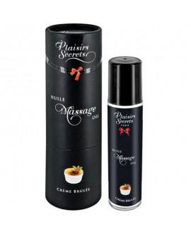 Huile de Massage Crème Brûlée 59 ml - Plaisirs Secrets