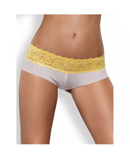 Pack Shorty & String Dentelle Jaune - Obsessive
