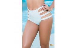 Bas Bikini Blanc Taille Haute & Strappy - Mapalé