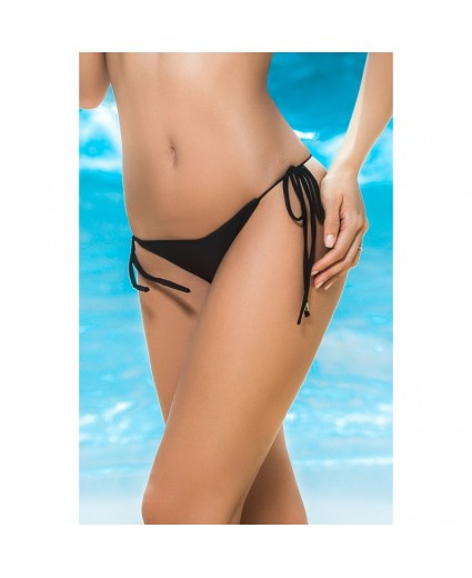 Bas Bikini Noir Façon String - Mapalé