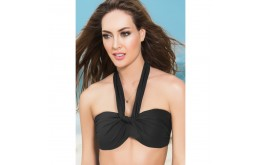 Haut Bikini Multi-Positions Push-Up Noir - Mapalé