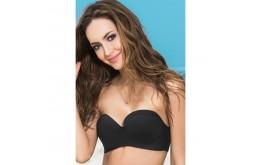 Haut Bikini Coqué Avec ou Sans Bretelles Noir - Mapalé