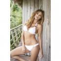 Bikini Blanc Push-Up Bijoux & Drapé - Mapalé