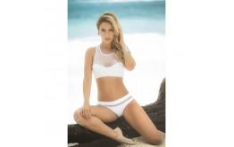 Bikini Blanc & Résille Transparente - Mapalé