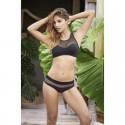 Bikini Noir & Résille Transparente - Mapalé