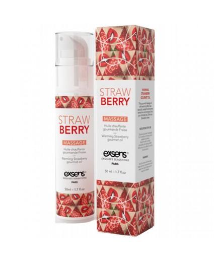 Massage Hot Gourmand Strawberry - 50 ml - EXSENS
