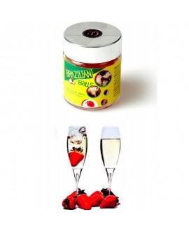 6 Boules Brésiliennes Strawberry & Champagne - Brazilian Balls