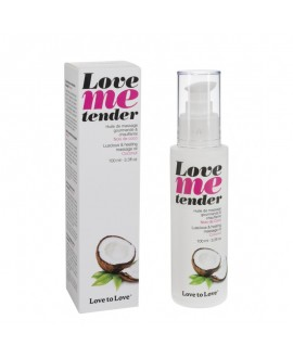 Huile Massage Love Me Tender Noix de Coco 100 ML - Love to Love