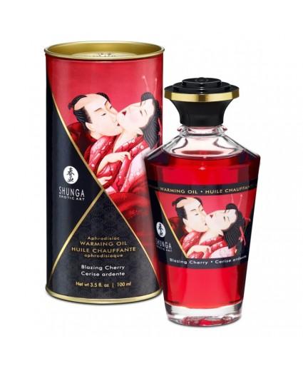 Huile Chauffante Aphrodisiaque Cerise Ardente 100 ml - Shunga