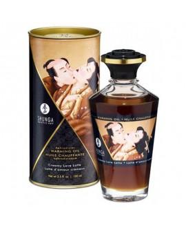 Huile Chauffante Aphrodisiaque Latte d'Amour Crémeux 100 ml - Shunga