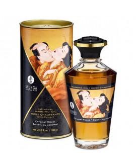 Huile Chauffante Aphrodisiaque Baisers au Caramel 100 ml - Shunga