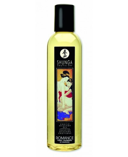 Huile Massage Romance Vin Pétillant Fraise - Shunga