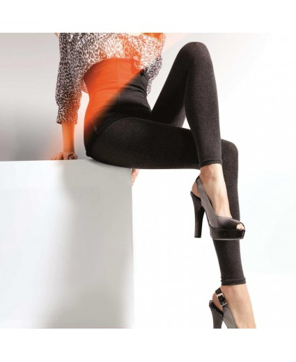 Legging Noir Maille & Moulant - Gatta