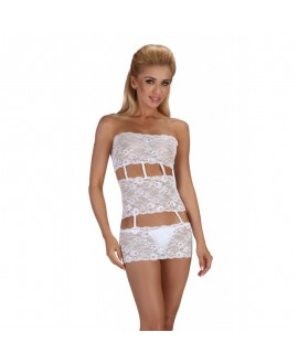 Robe Lingerie Originalité Sexy Blanche - Beauty Night