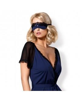 Masque Délice de Volants Bleu & Noir - Obsessive