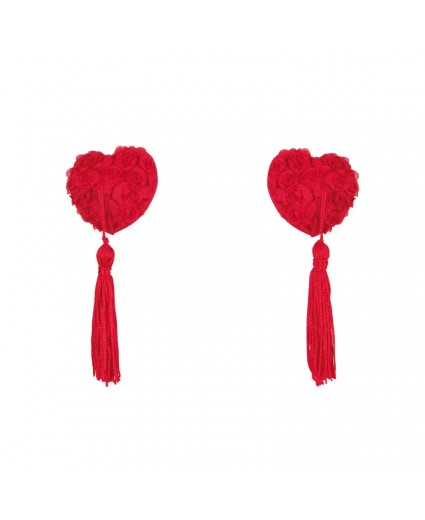 Nipples Cœurs Rouges et Pompons - Anaïs