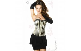 Corset Duo Noir et Or - Chilirose