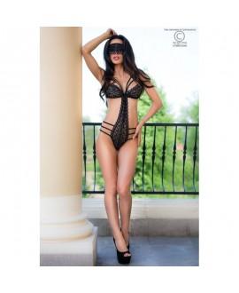Body & Masque Trikini Strappy & Dentelle Noire - Chilirose