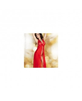 Babydoll Longue Rouge - Chilirose