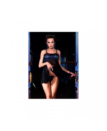Nuisette Esprit Babydoll Showgirl Bleu - Chilirose