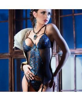 Guêpière Showgirl Bleu - Chilirose
