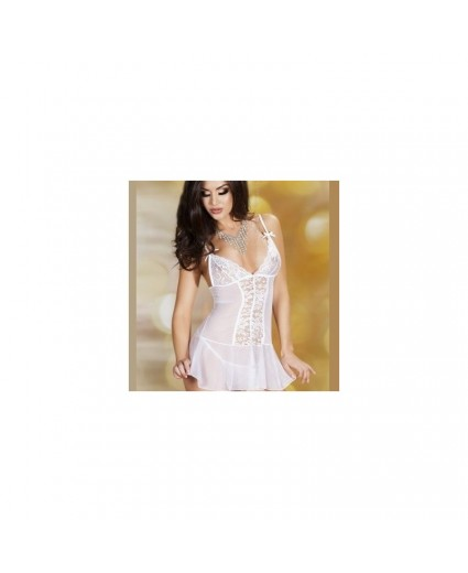 Nuisette Troublante Transparence Blanche - Chilirose