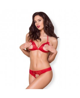 Ensemble Ouvert Rouge Valentine Day - Obsessive