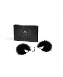Menottes Plumes Noires - Bijoux Indiscrets