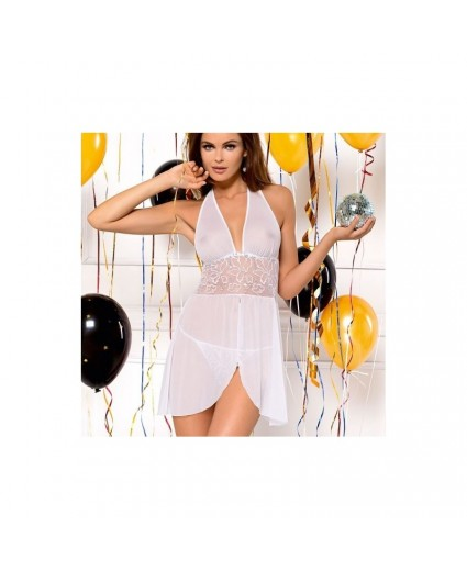 Nuisette Blanche Transparence Chic - Tessoro