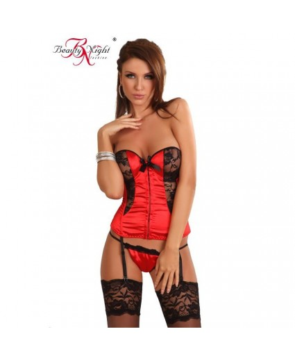Corset Rouge Vision Glamour - Beauty Night