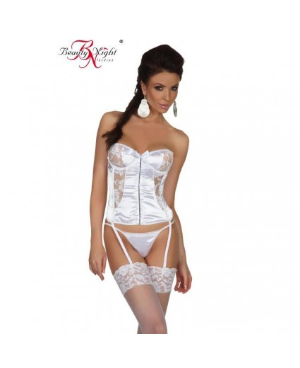Corset Blanc Vision Glamour - Beauty Night
