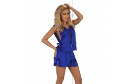Ensemble Top et Shorty Bleu Electrique - Beauty Night