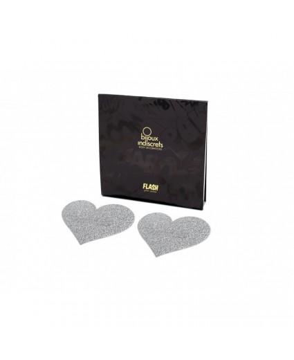 Nipples FLASH COEUR - ARGENT - Bijoux Indiscrets