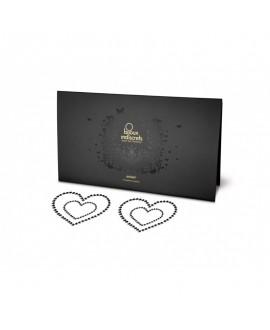 Nipples MIMI HEART - COEUR NOIR - Bijoux Indiscrets
