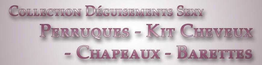 Perruques - Kit Cheveux - Chapeaux - Barettes